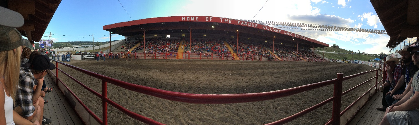 Friday night at the Williams Lake Stampede