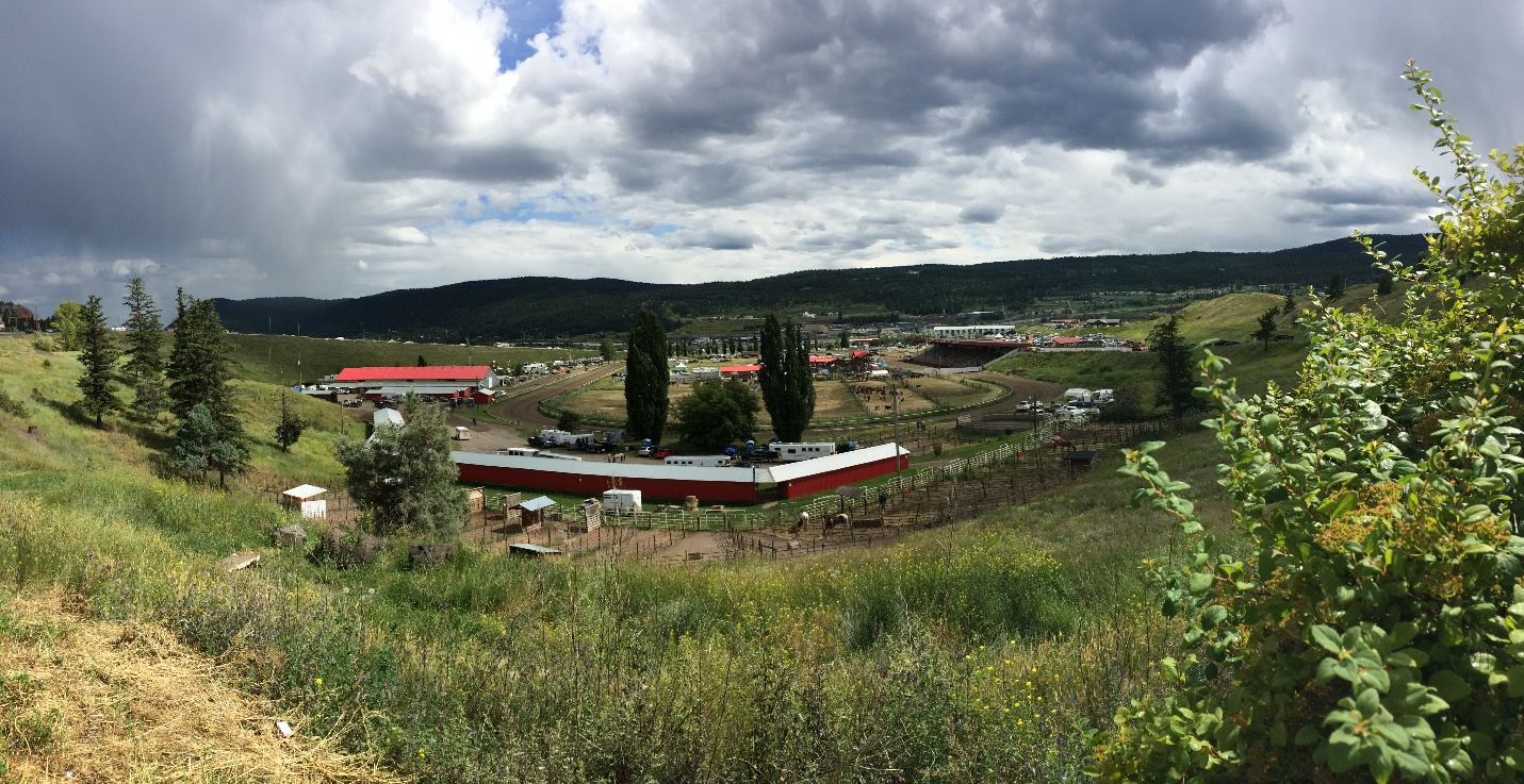 The view of our rodeo grounds, which are situated in the middle of town
