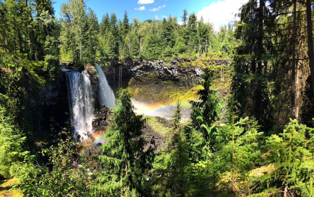 Figure 7. Canim falls. Notice the water seeping from between the lava flows to the right of the falls. This is my favorite part! Sue, Erin, and I sure enjoyed each other's company while here. I always find so much value in discussions with them no matter what the subject is.