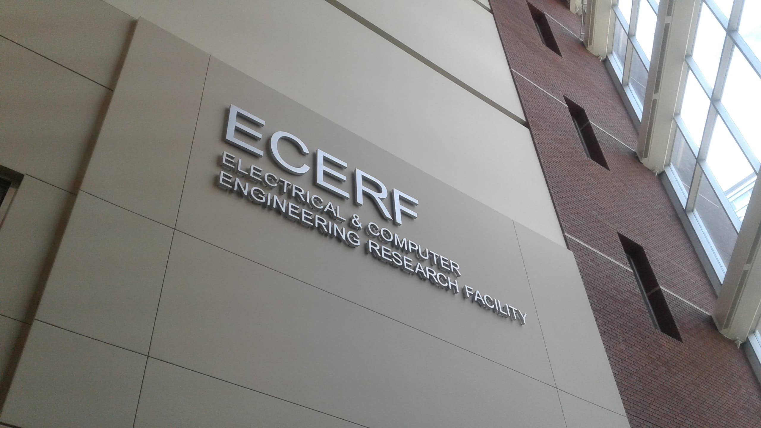 sign on building electrical & computer engineering research facility
