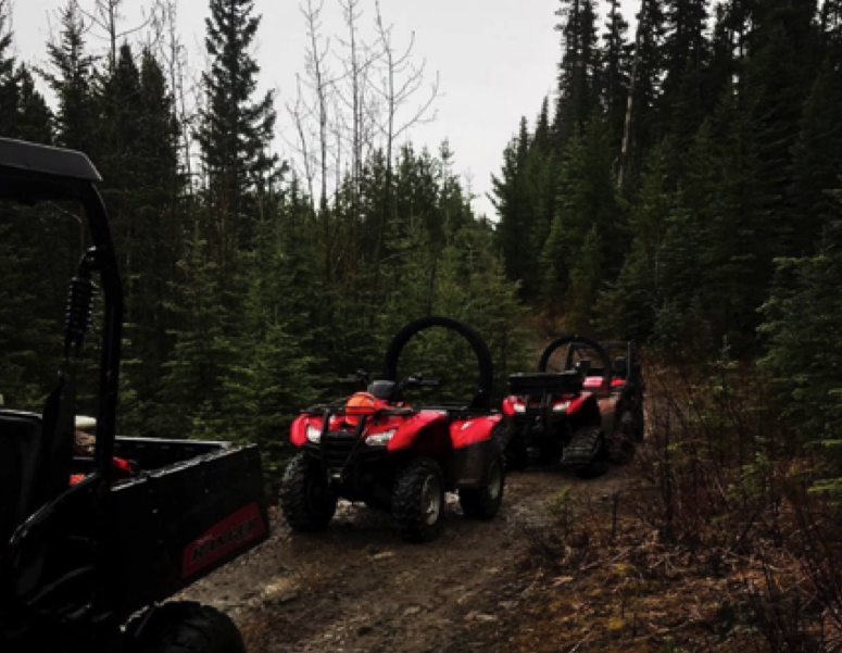Figure 2. A few of our quads here in Sundre.