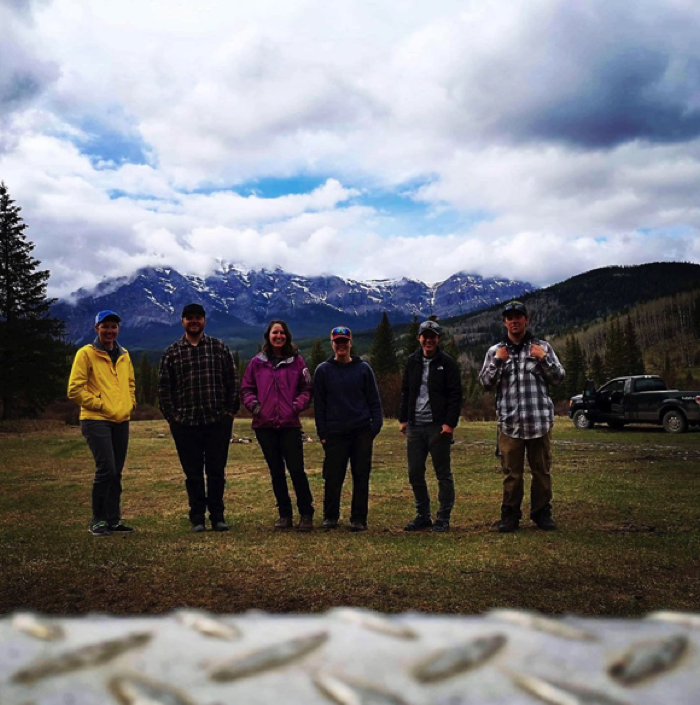 Figure 4. Team silviculture. (L to R) Britni, Fraser, me, Zena, Karalee and Dylan. Just missing Ed!