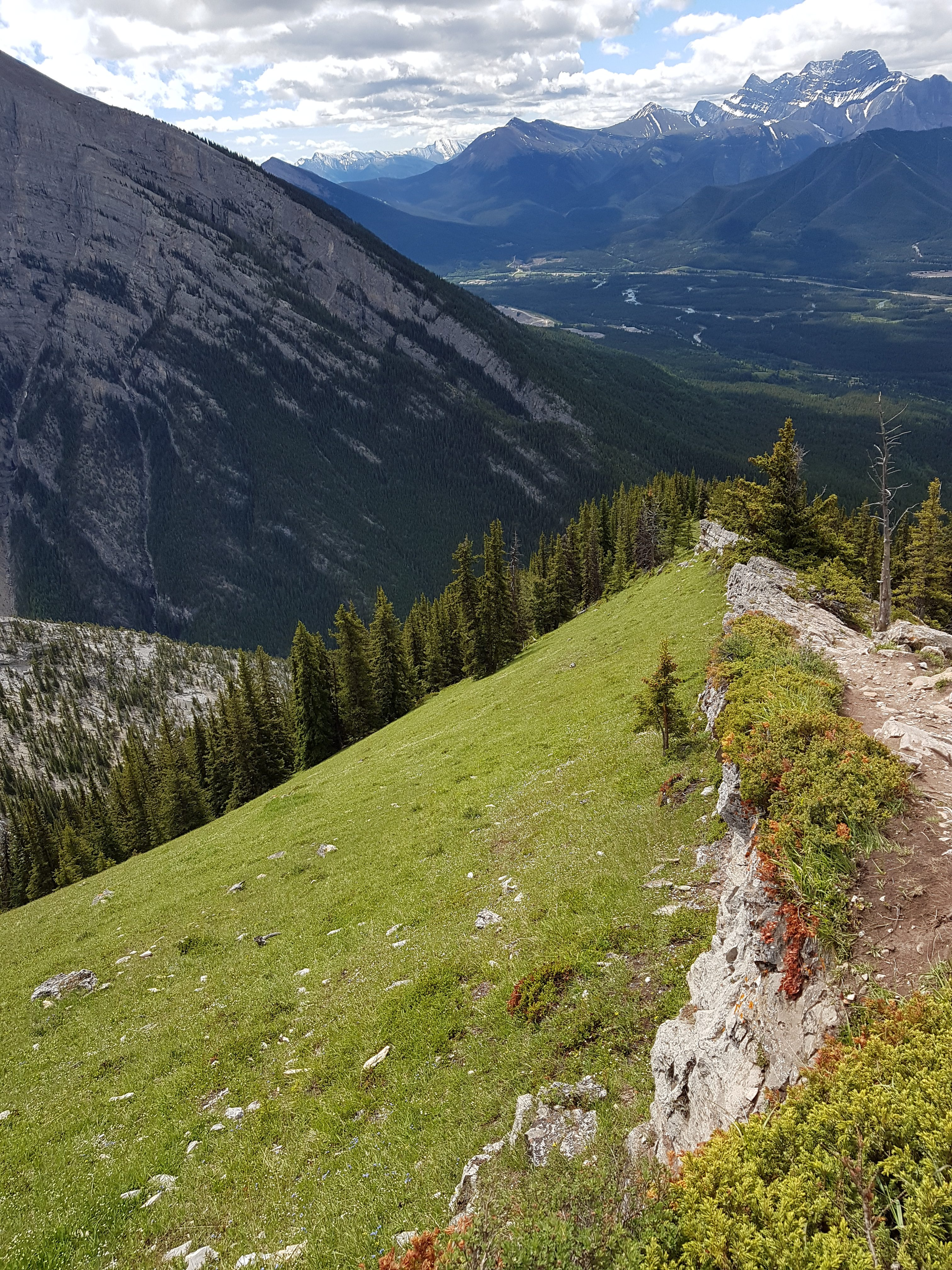 mountain edge view
