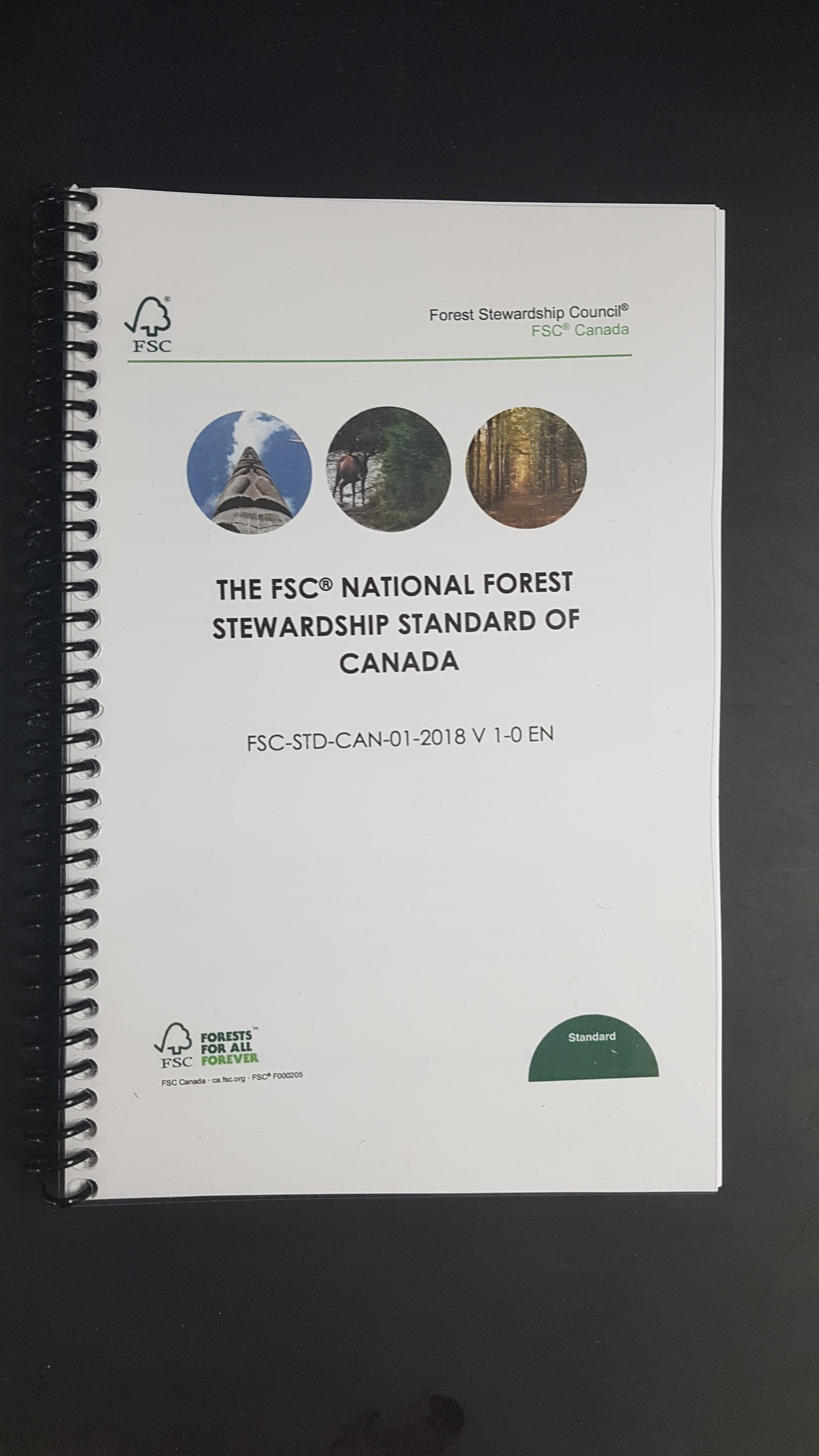 cover of book from FSC national forest stewardship standard of canada