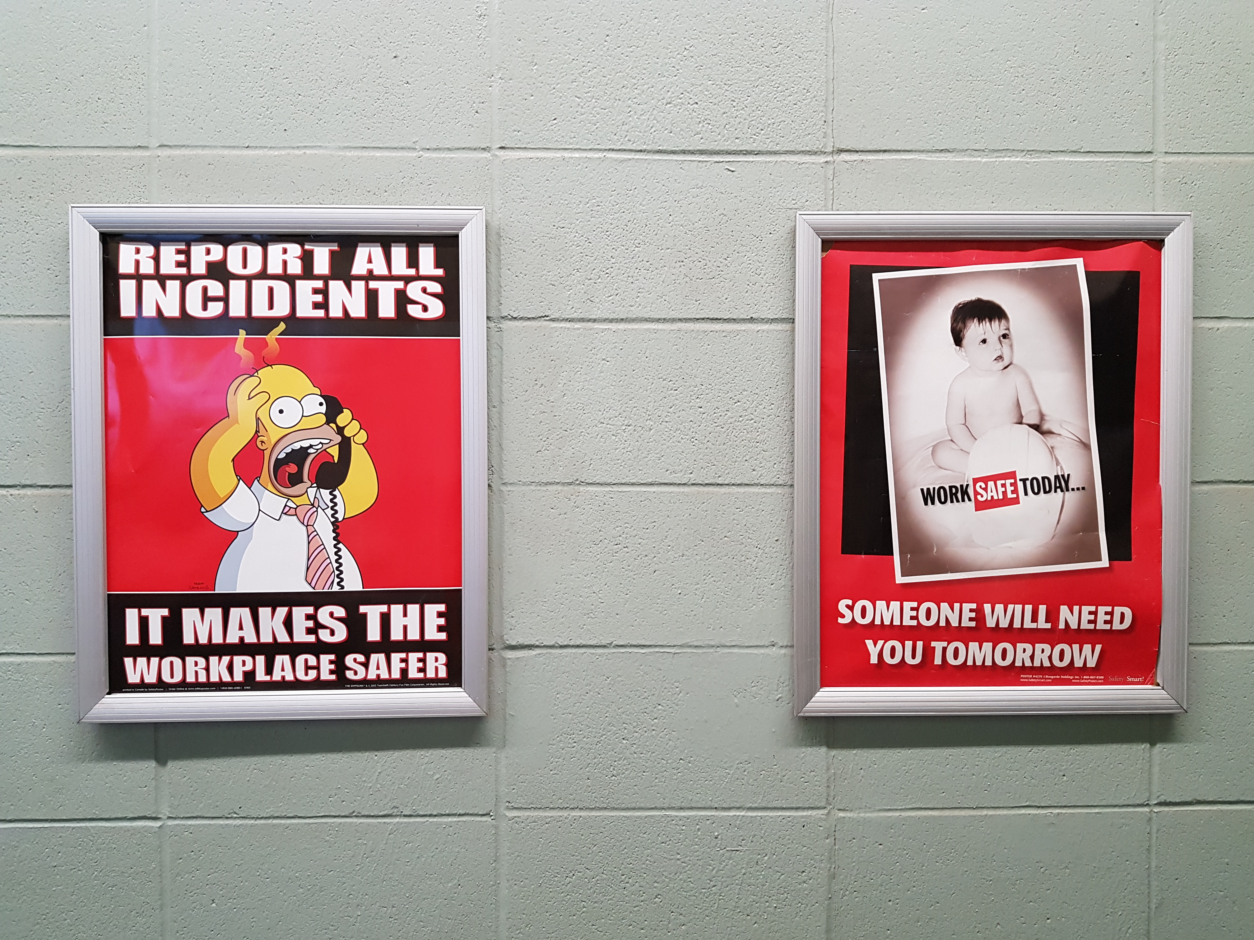 comedic workplace safety posters