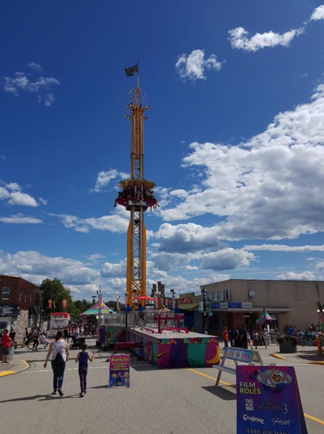 large drop ride at a fair
