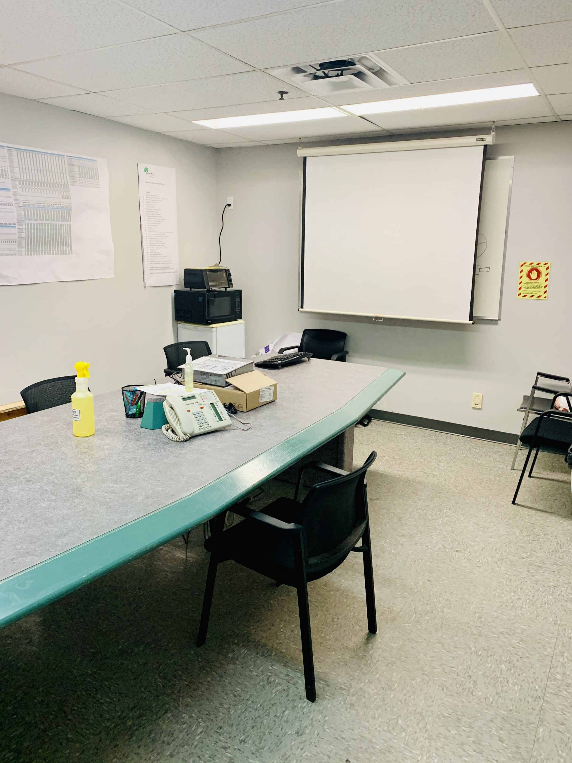 The conference room, where internal meetings will take place.