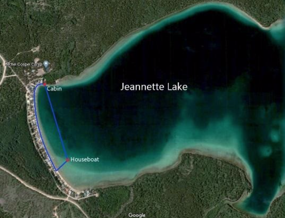 Overview of Jeannette Lake.