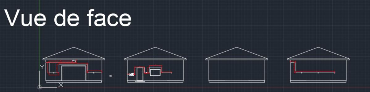 Plans du câblage électrique d'une maison.